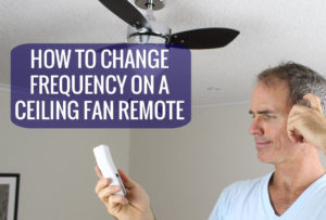 Ceiling fan remote frequency change by dipswitch settings