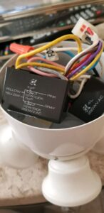 Ceiling Fan Capacitors inside the housing